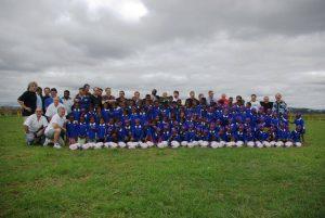 L'équipe et les enfants